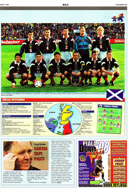 WORLD CUP 1998 SCOTLAND PROFILE