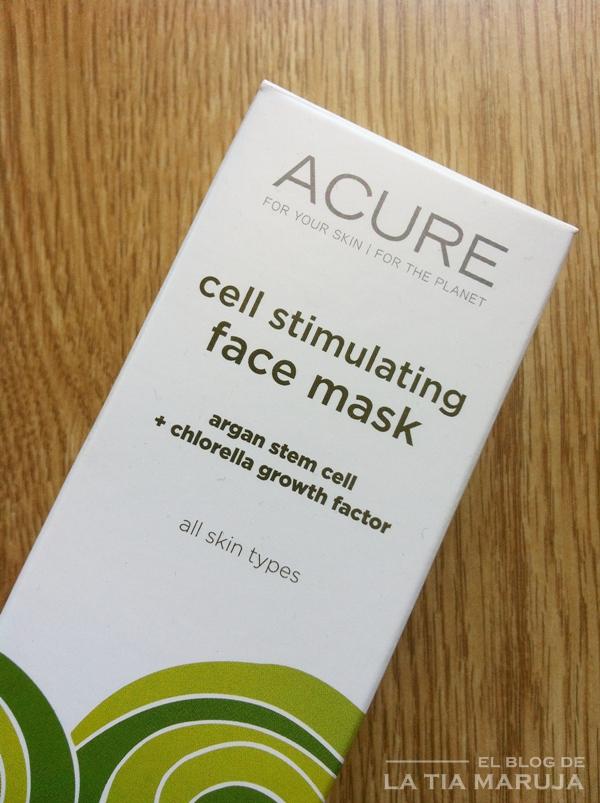 Acure iHerb cell stimulating mask mascarilla
