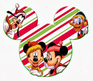 Mickey Heads with Disney Characters, Speciall for Christmas.