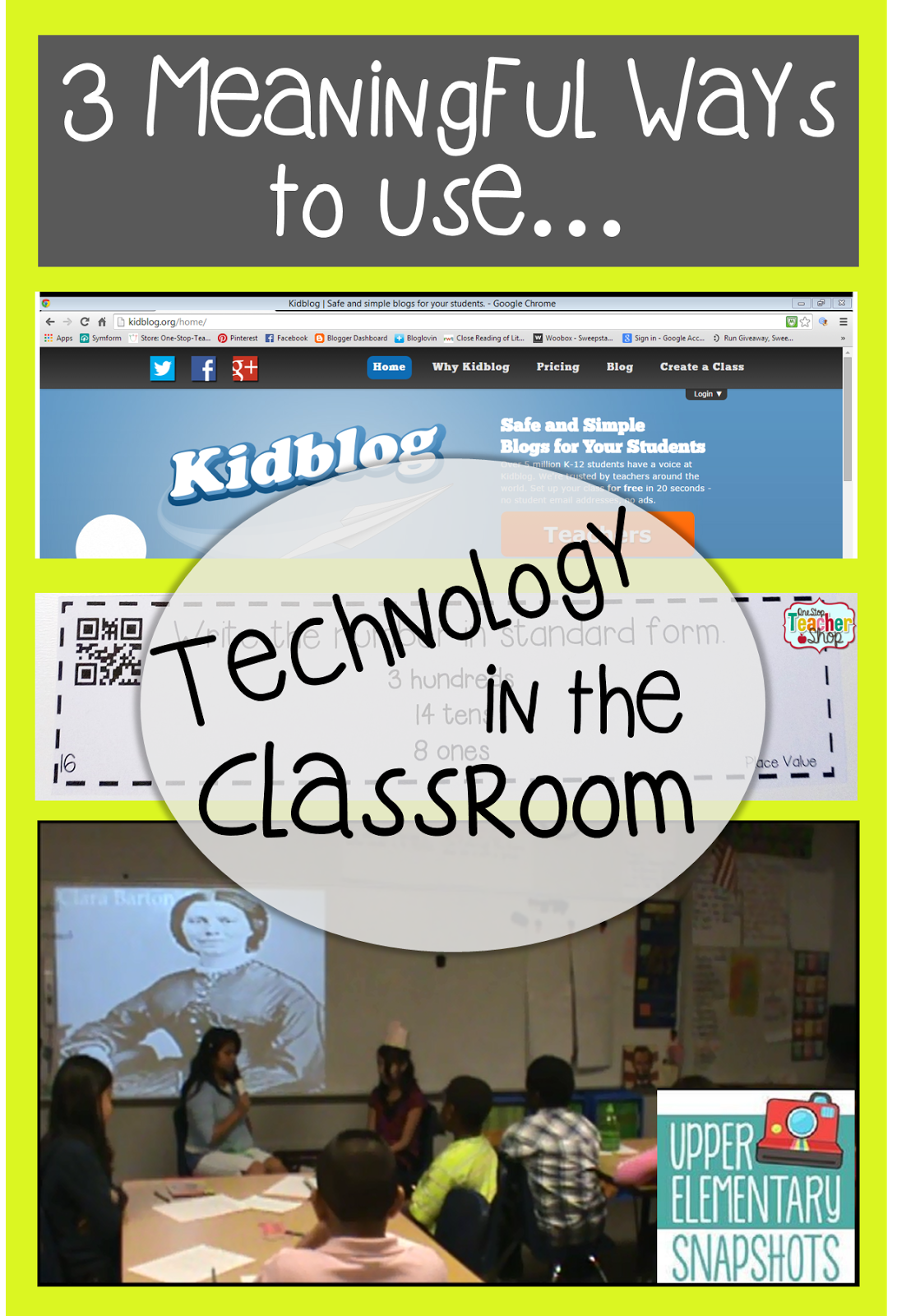 Elementary Classrooms Technology Use ~ Upper elementary snapshots meaningful ways to use