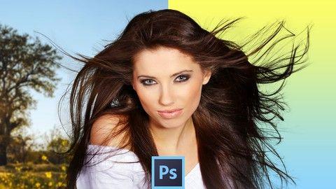 Seleccionar pelo y otras superficies complejas en Photoshop (Udemy)