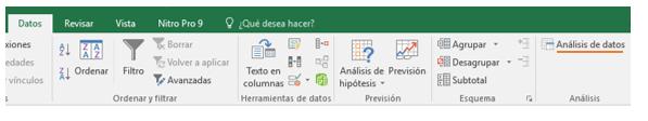 Análisis de Datos en Excel