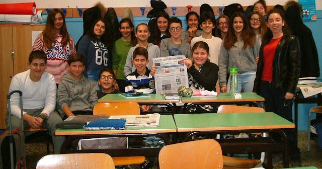 Gli alunni della scuola media G. Santomauro Giornalismo Silvana Calabrese