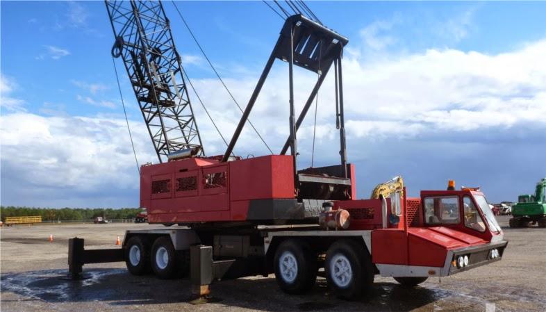 Bucyrus-erie 65c mechanical truck crane