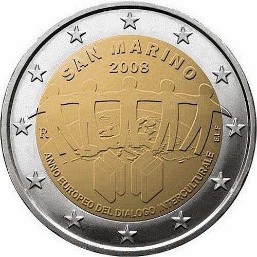 2 euro San Marino 2008, European Year of Intercultural Dialogue