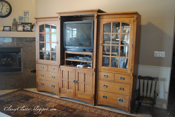 Better In Black Wall Unit Makeover Classy Clutter