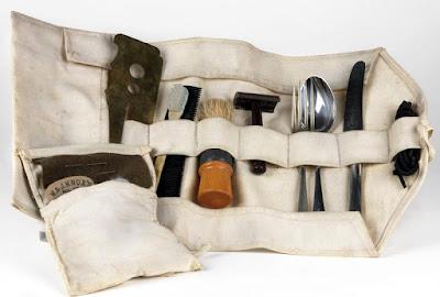 WW2 British Army washroll complete with toothbrush