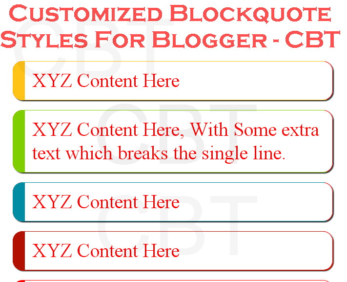 Customized Blockquote Style In Blogger Blog Creative Blogging Tips