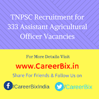 TNPSC Recruitment for 333 Assistant Agricultural Officer Vacancies