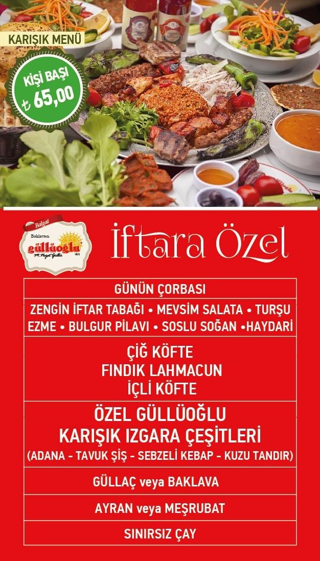 güllüoğlu balgat ankara  iftar menu