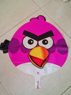 Foil Character Angry Bird Pink