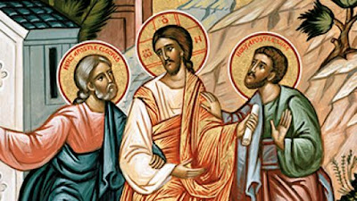 The Road to Emmaus Icon