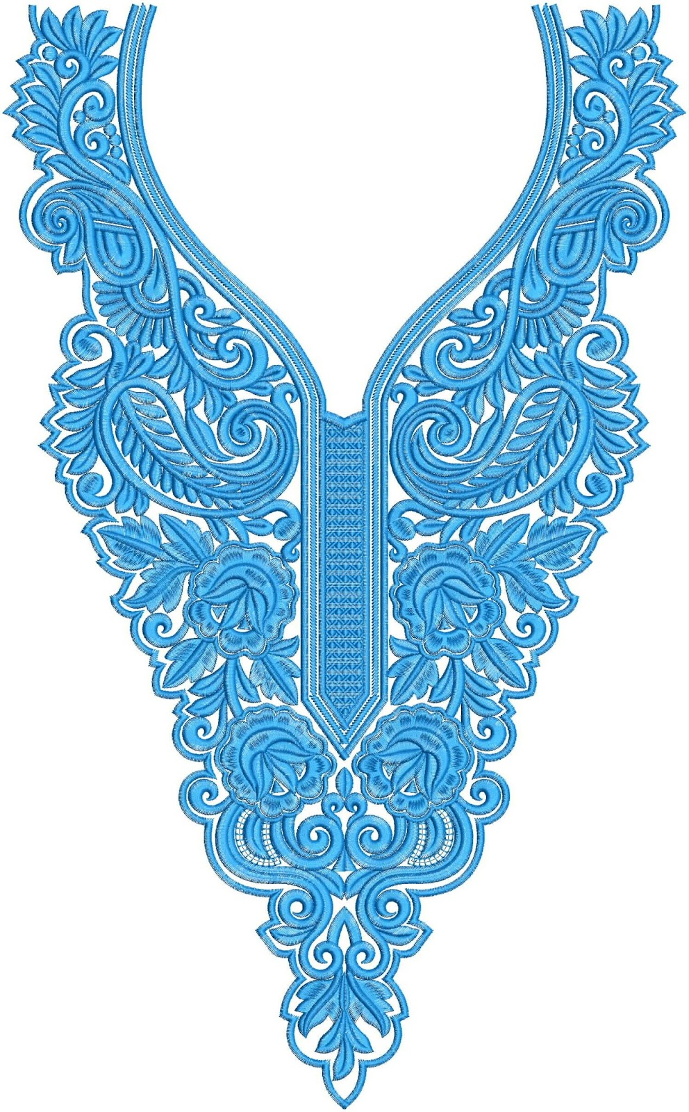Embdesigntube mix creative neck dress embroidery designs