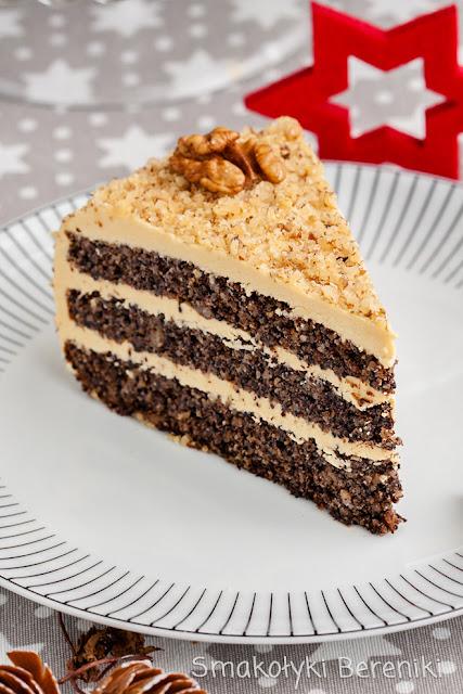 Świąteczny tort makowy