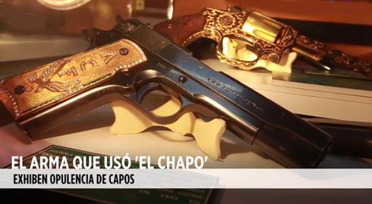 """CONOCE el ARMA QUE USÓ el CHAPO,REGALO de AMADO CARRILLO """"EL SEÑOR DE LOS CIELOS"""""""