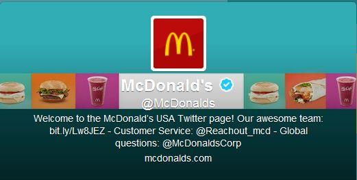 Best Cool Twitter Headers mcdonals hamburger fast food restaurant