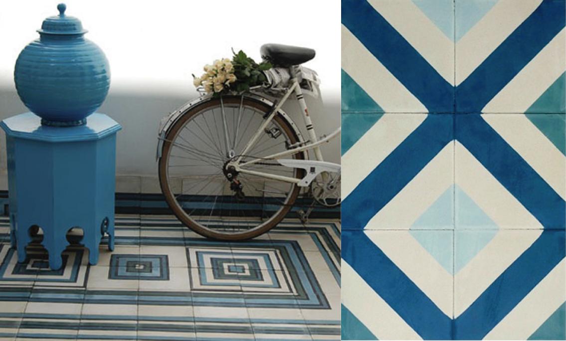 Pavimento design contemporaneo con influenze marocchine