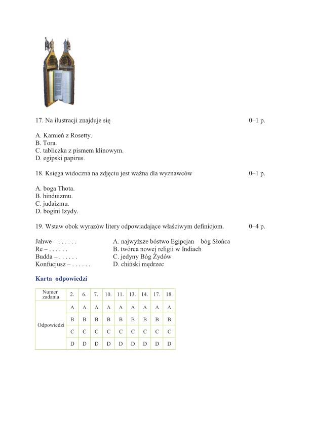 klucz odpowiedzi matura 2012