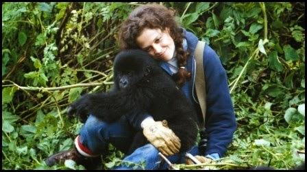 Sigourney Weaver en Gorilas en la niebla (Michael Apted, 1988)