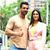 "John Abraham and Mrunal Thakur promote their upcoming film ""Batla House"" in Delhi"