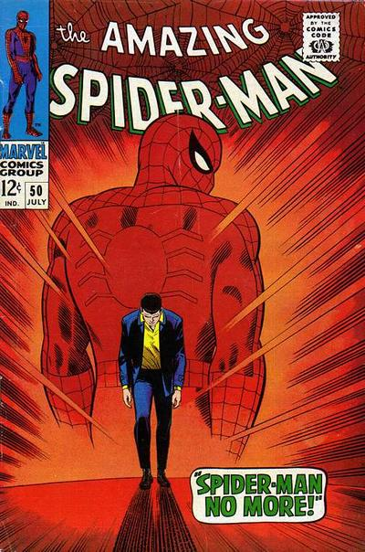 Amazing Spider-Man #50, Spider-Man quits, All-time Top Ten John Romita Spider-Man Covers