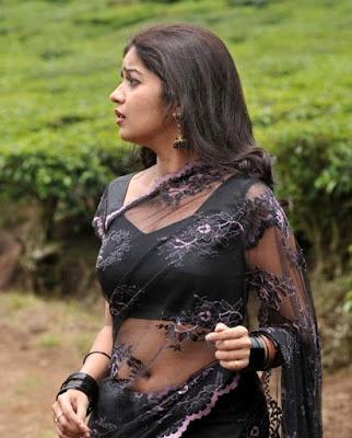 Tamil actress Swathi hot images in saree navel