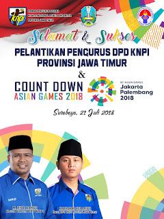 "Pelantikan DPD KNPI Jawa Timur Periode 2018-2021 ""The Power Of Asia"""
