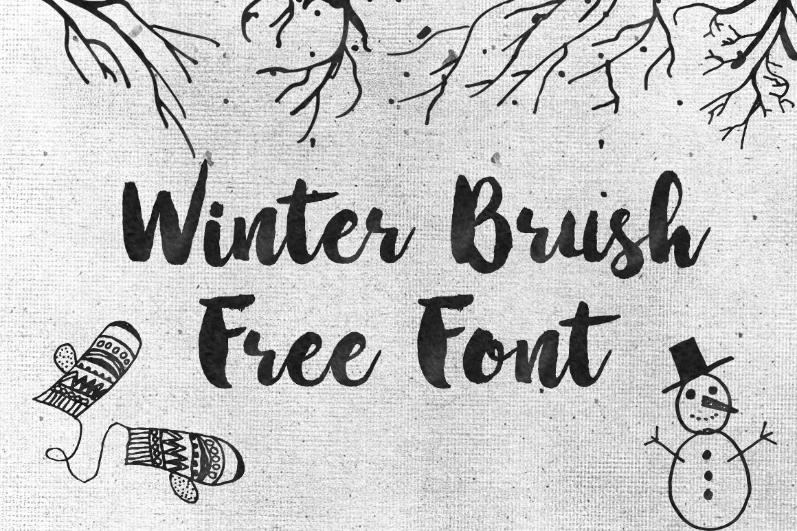dlolleys help winter brush free font. Black Bedroom Furniture Sets. Home Design Ideas