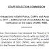 Document Verification of Sub-Inspectors CISF Examination 2017 Notice