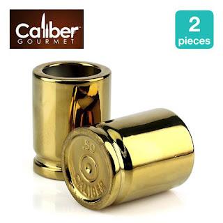 CALIBER GOURMET 50 Caliber Ceramic Shot Glasses, Set of 2