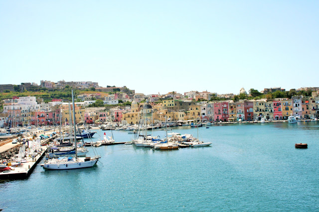 mare, acqua, porto, isola, barche, costa, case colorate