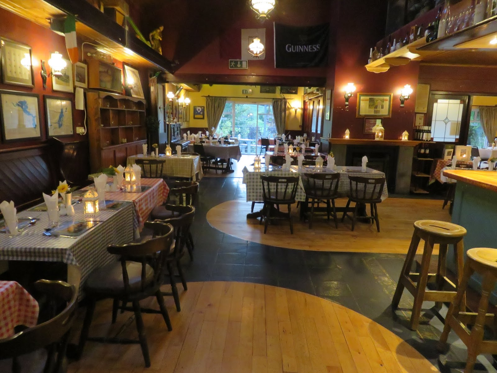 While You Couldnt Tell From The Outside Inside Of Burkes Was Beyond Spacious Dining Areas Were Multifacetedwith Different Looks In