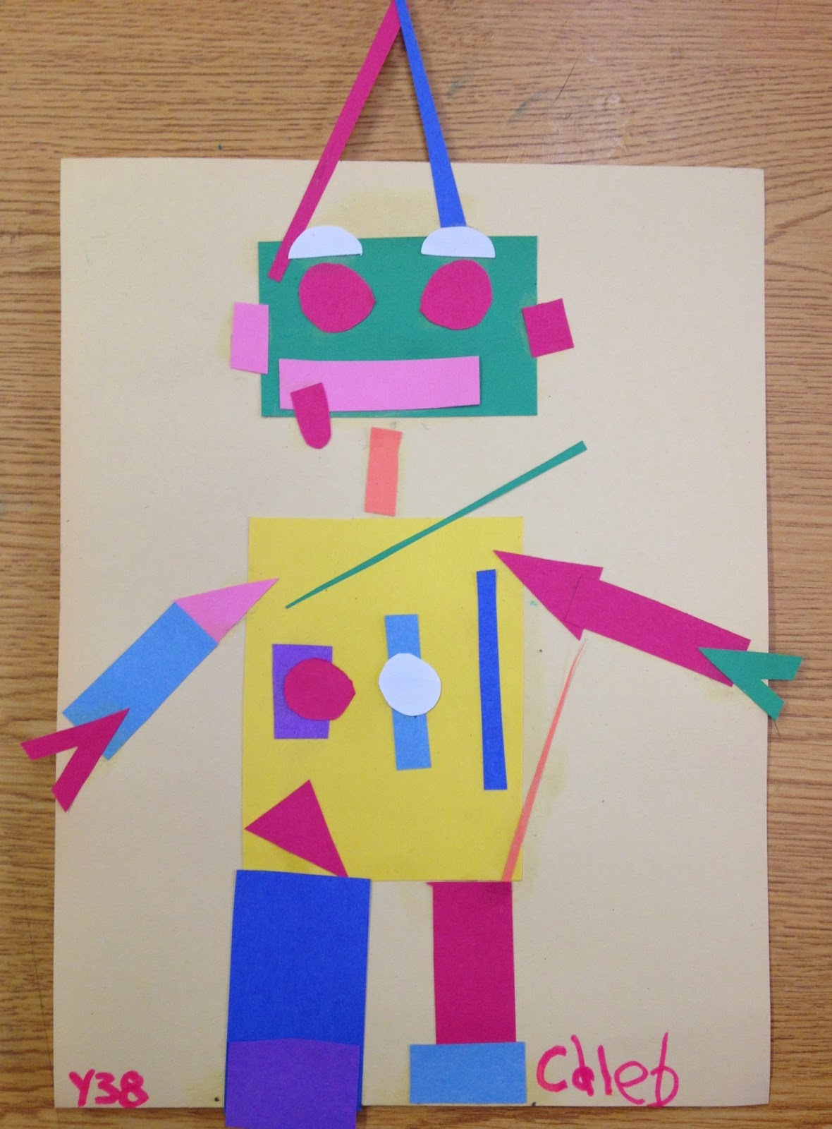 Ms C S Artroom Geometric Robots Art Lesson