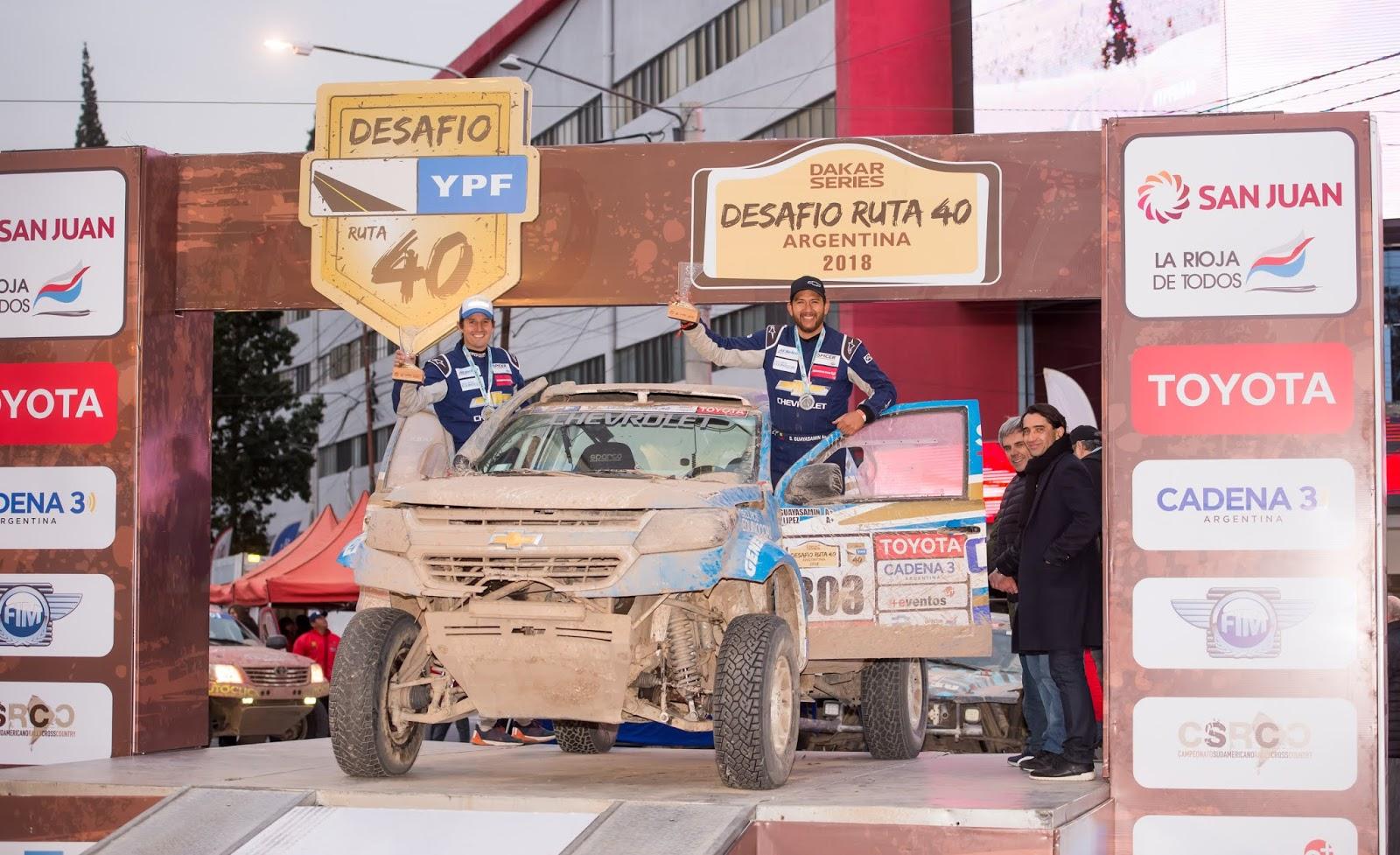 Sebastián Guayasamin y la Chevrolet Colorado: imparables en el Rally argentino desafío ruta 40
