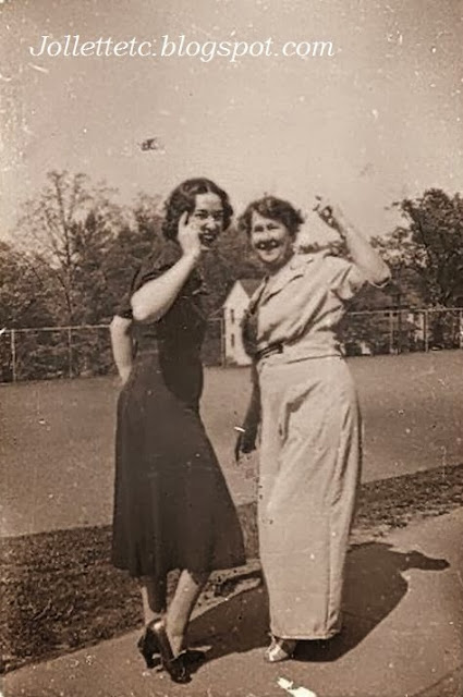 Catherine Walsh Barany and friend 1937