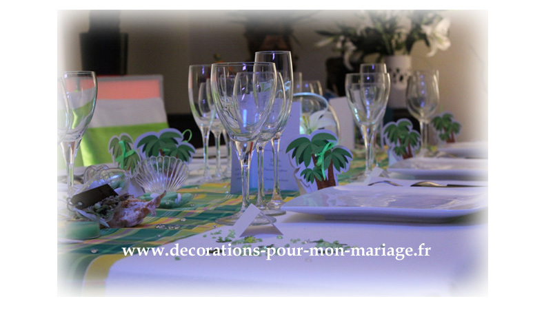 Ma Decoration De Mariage Decorations Mariage Antillais Madras Anis