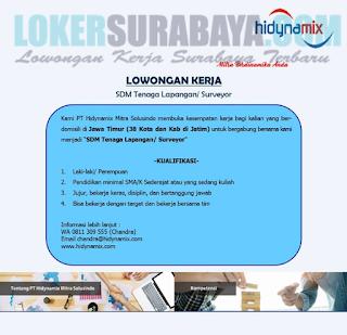 Lowongan Kerja Surabaya di PT. Hidynamix Mitra Solusindo