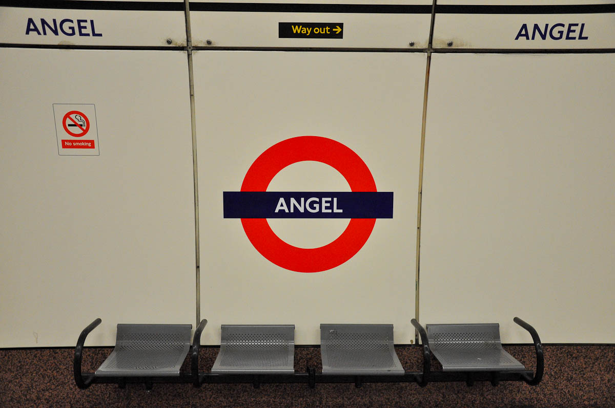 Angel tube station, London, England