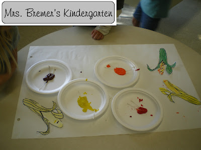 Fall Indian corn art activity for young children