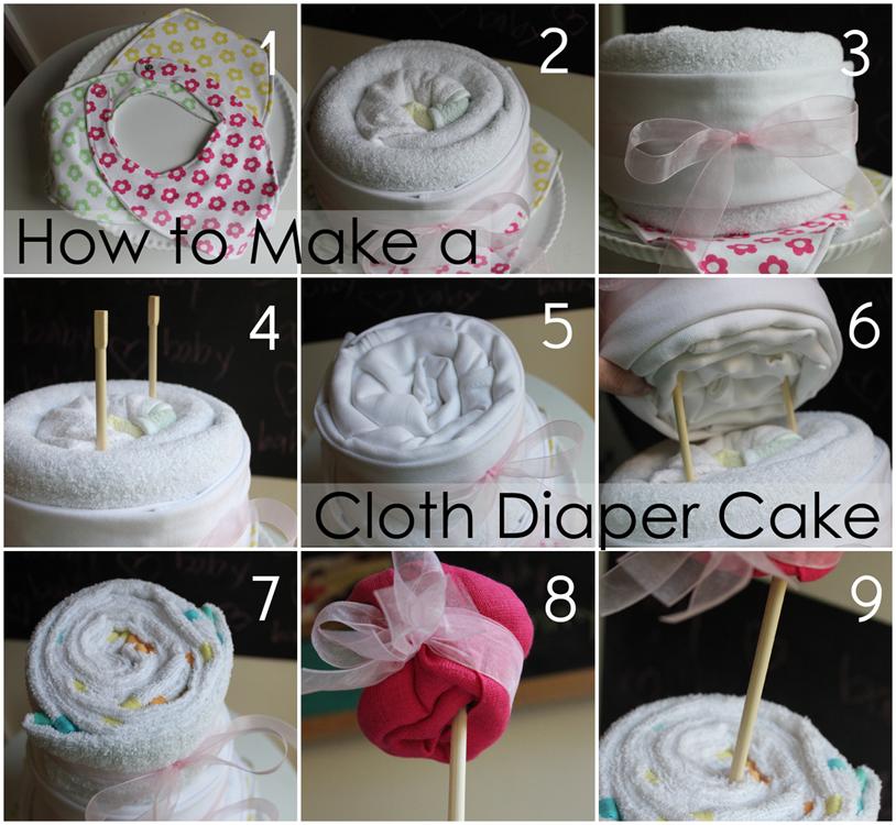 Sunny Stitching Cloth Diaper Cake Tutorial