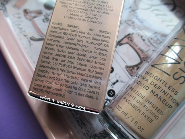 Base de maquillaje Naked Skin Liquid Foundation Make Up de Urban Decay - Review & Swatches