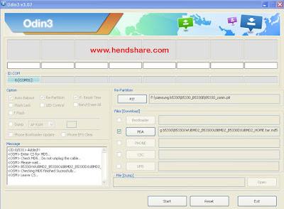 Cara Flash Samsung Galaxy Chat GT-B5330 Via Odin