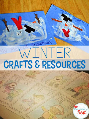 Winter Crafts and Resources to use in the primary classroom