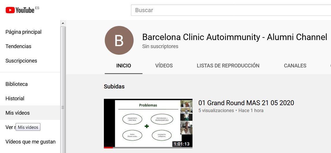 Barcelona Clinic Autoimmunity - Alumni Channel by YouTube: GRAND ROUNDS & FORUMS  - MAS