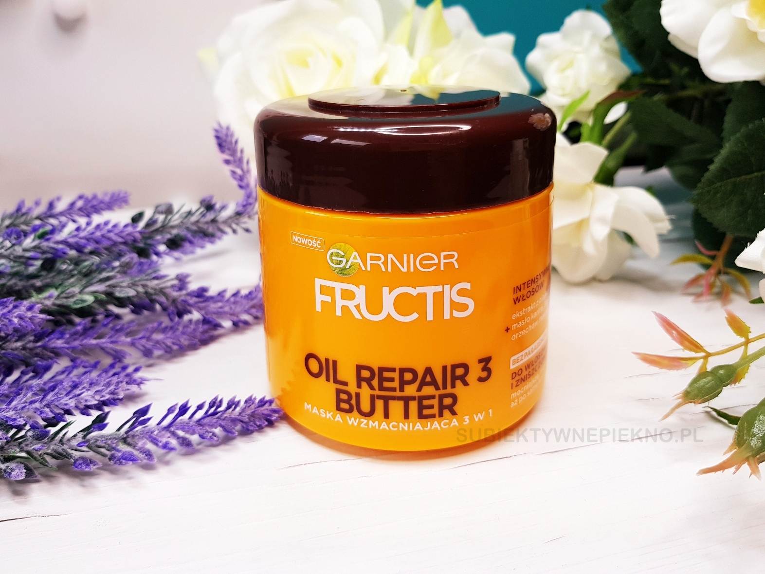 Wzmacniająca maska do włosów Garnier Fructis Oil Repair 3 Butter.