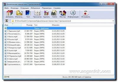 WinRAR 5.50 Final - Интерфейс программы