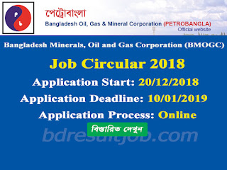 Bangladesh Minerals, Oil and Gas Corporation Job Circular 2018