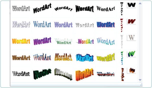 Cara Membuat Teks WordArt 2010 Seperti Di MS Word 2007
