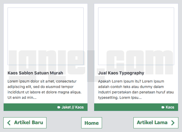 Cara Membuat Navigasi Halaman Dengan Nomor di Blogspot