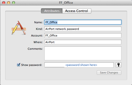 How to Display WiFi Password Stored In Keychain On OS X